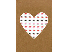 Greeting Card Elly Oak Heart White