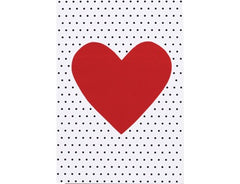 Greeting Card Elly Oak Dotty Red Heart