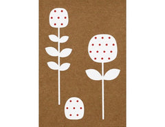 Greeting Card Elly Oak Flower White