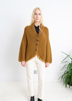 Vintage cotton sweater with toggle buttons
