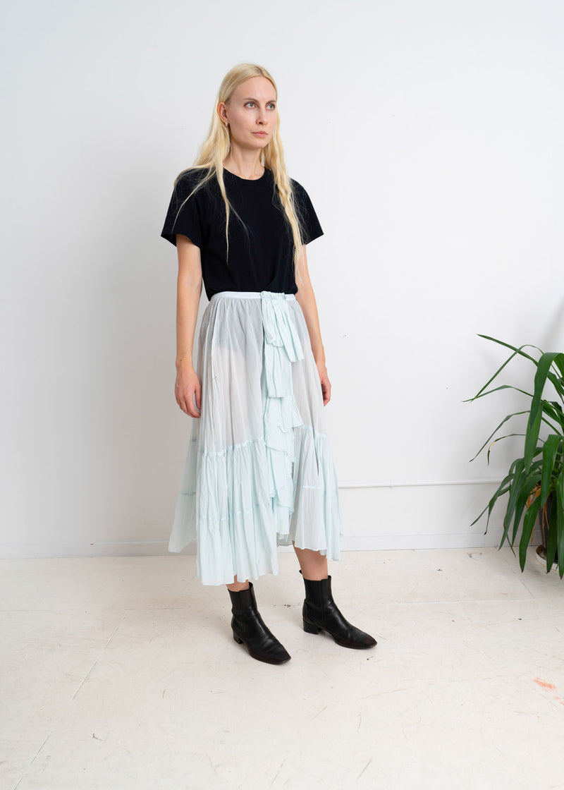 Pale Blue Frill Skirt