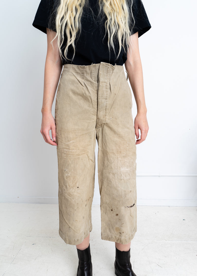 Darned to death vintage pant