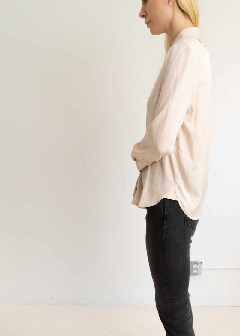 Peterpan collar shirt- cream