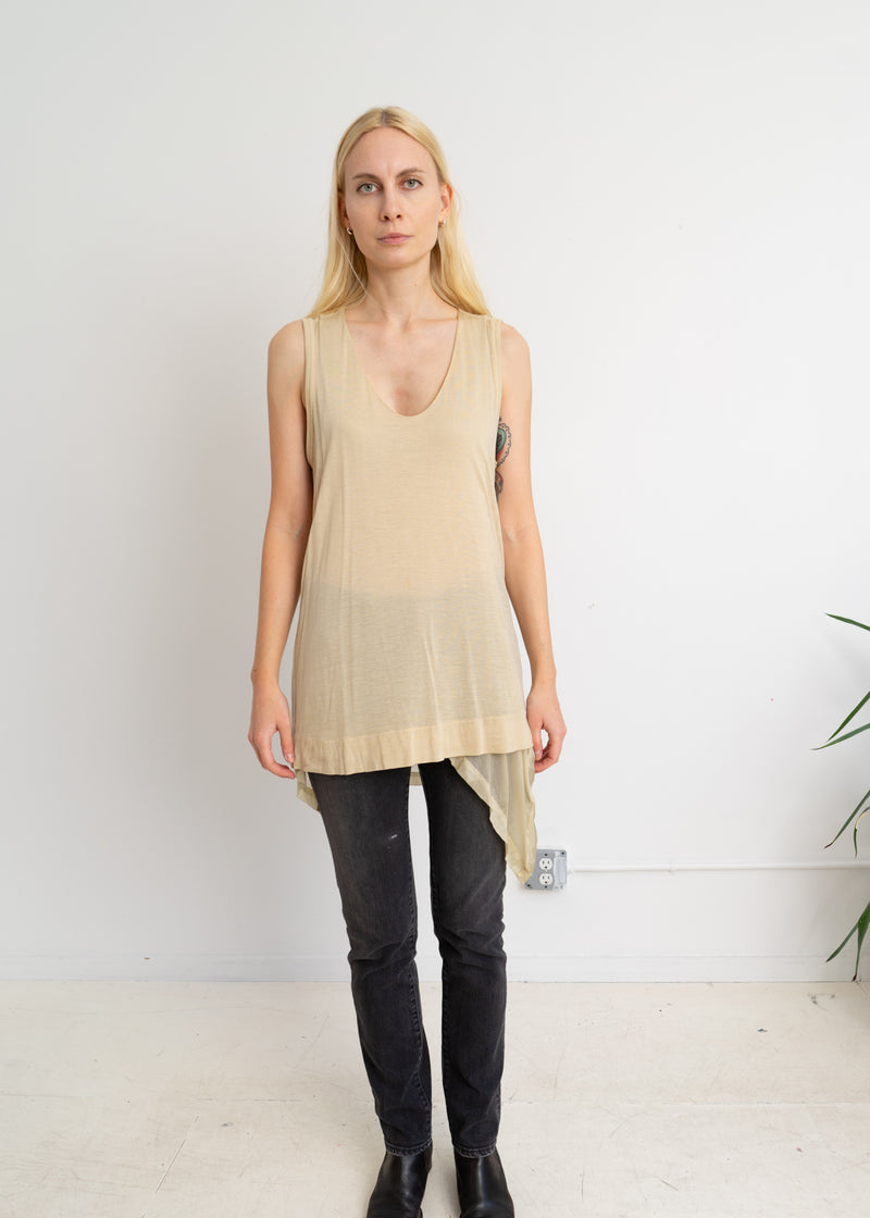 Zucca cotton tank with under layer