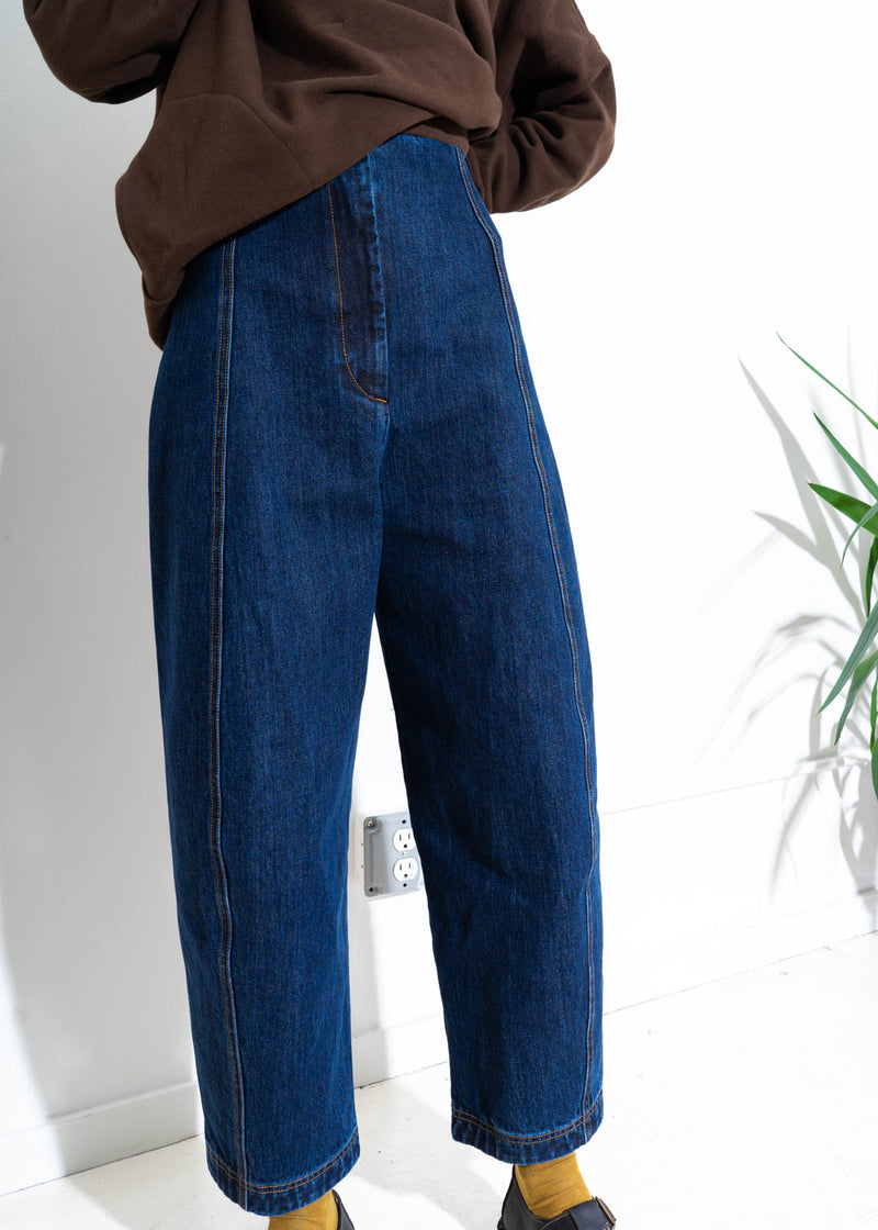 CRESCENT PANT- BLUE DENIM