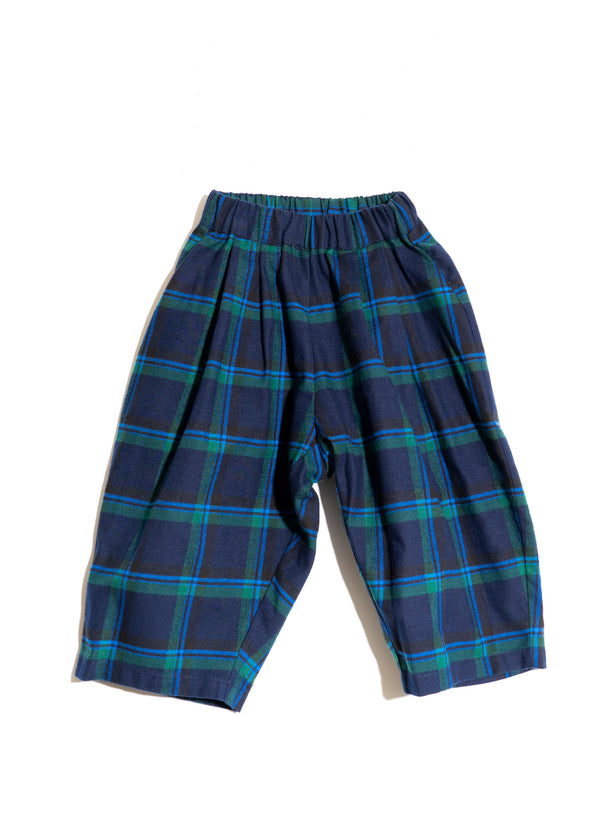 LOU PANTS- Blue Green Plaid