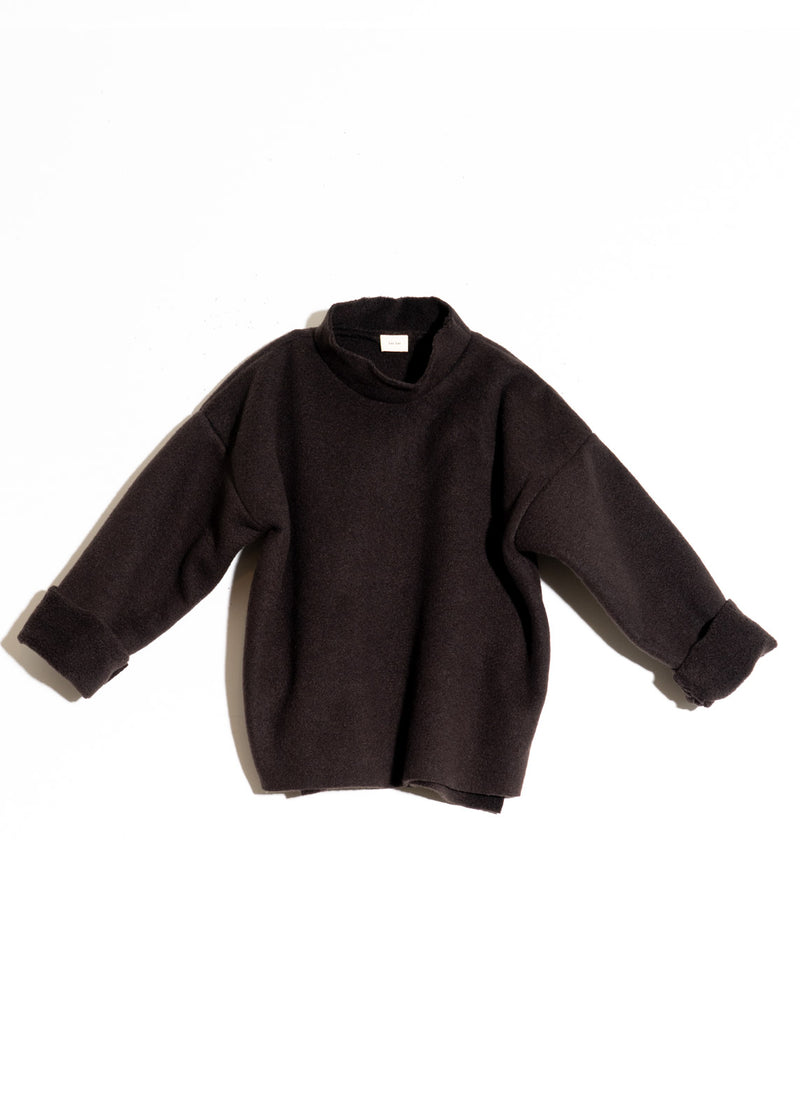 Mock Neck- Black Fleece