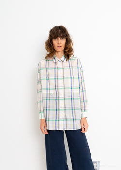 Mill Top- White Yellow Plaid