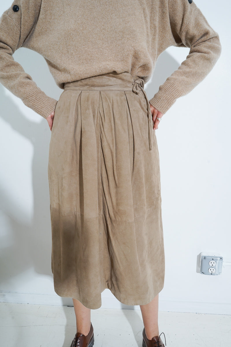 FENDI SUEDE SKIRT