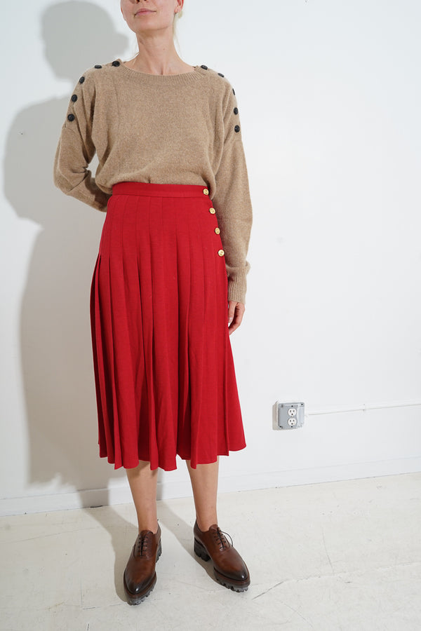 SONIA RYKIEL PLEATED SAILOR SKIRT