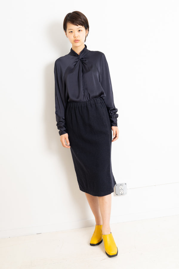 COMME DES GARCONS WOOL PENCIL SKIRT