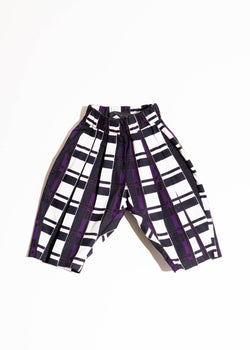 LOU PANTS- PURPLE PLAID