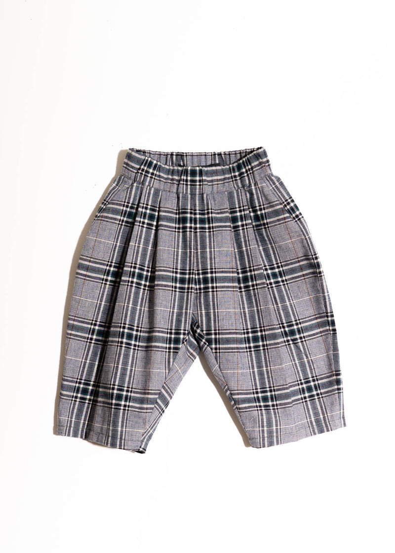 LOU PANTS- Blue White Plaid