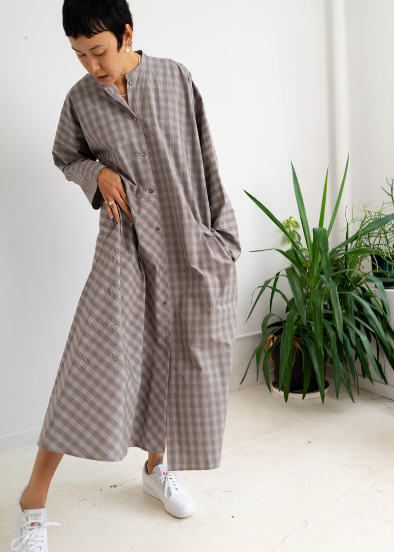 Daphnis Dress- Chocolate Check