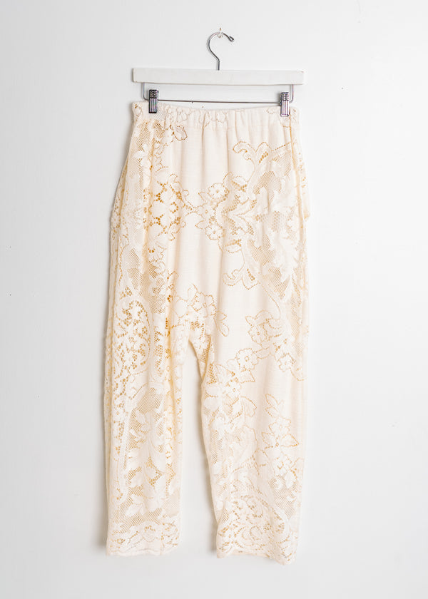 Gusset Pant- Vintage Off White Lace Ivy