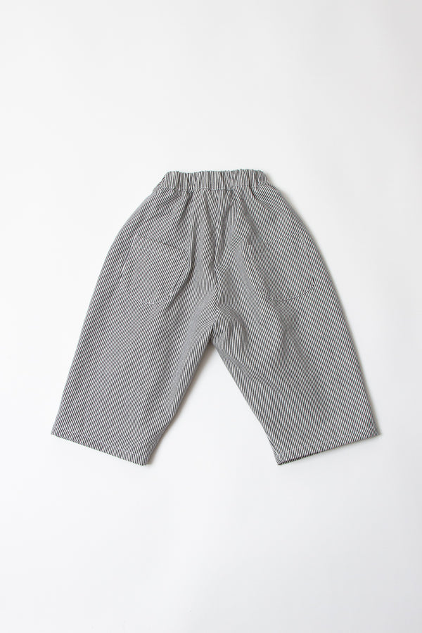 LOU PANTS- COTTON ENGINEERED STRIPE