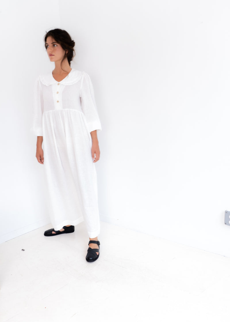 Lindsey Dress- White Linen