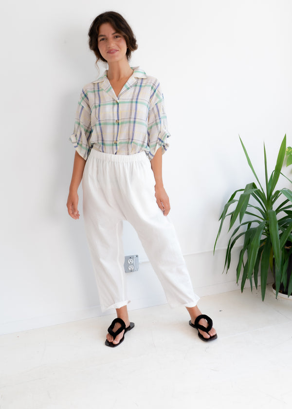 Gusset Pants- White
