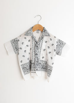 School Boy Shirt- Bandana White