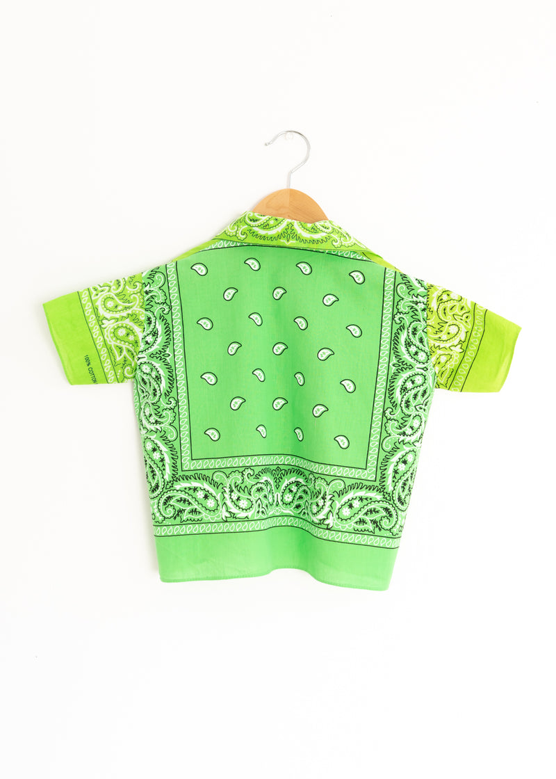 School Boy Shirt- Bandana Lime