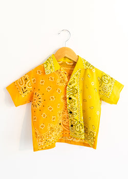 School Boy Shirt- Orange Yellow