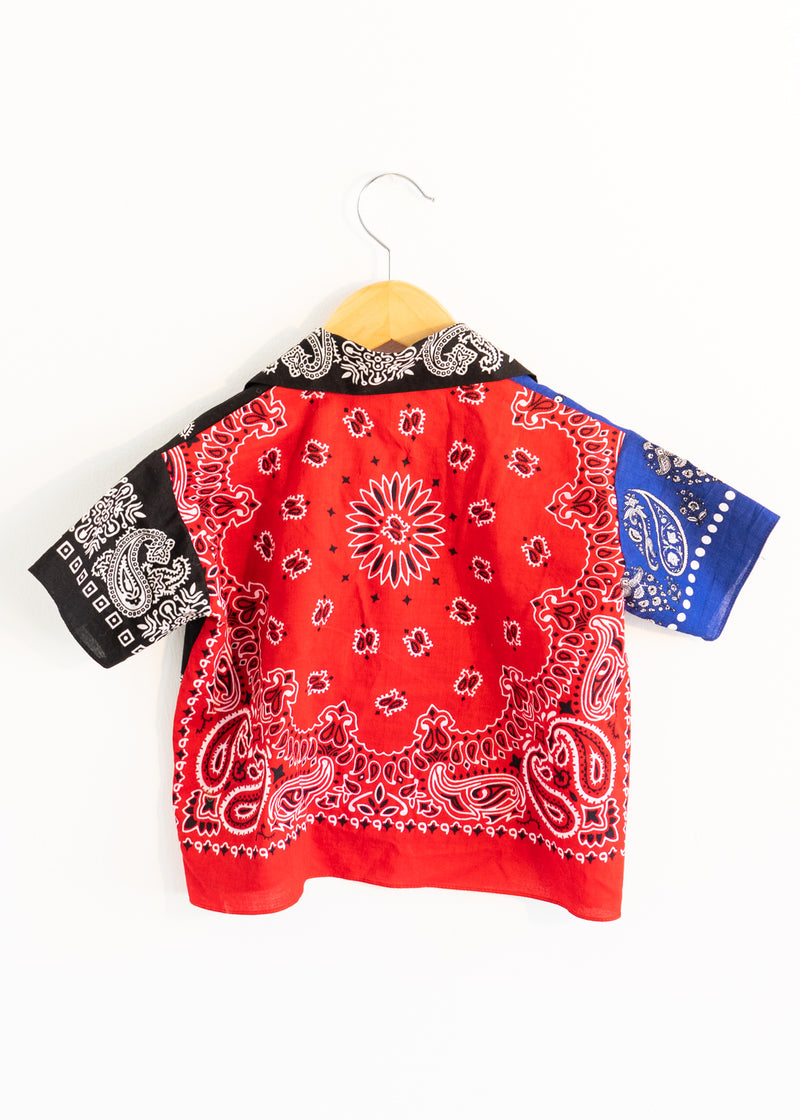 School Boy Shirt- Red Blue Black