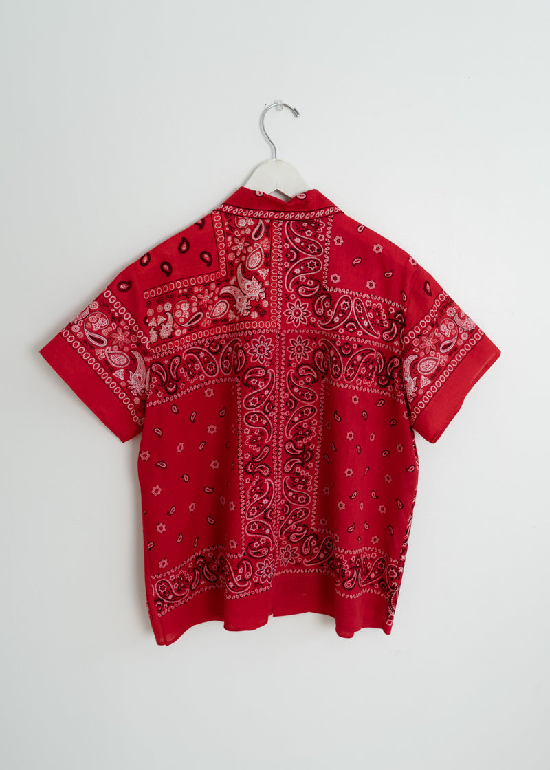 Adult School Boy Top- Bandana Red