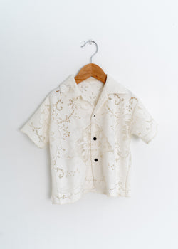 School Boy Shirt- Lace