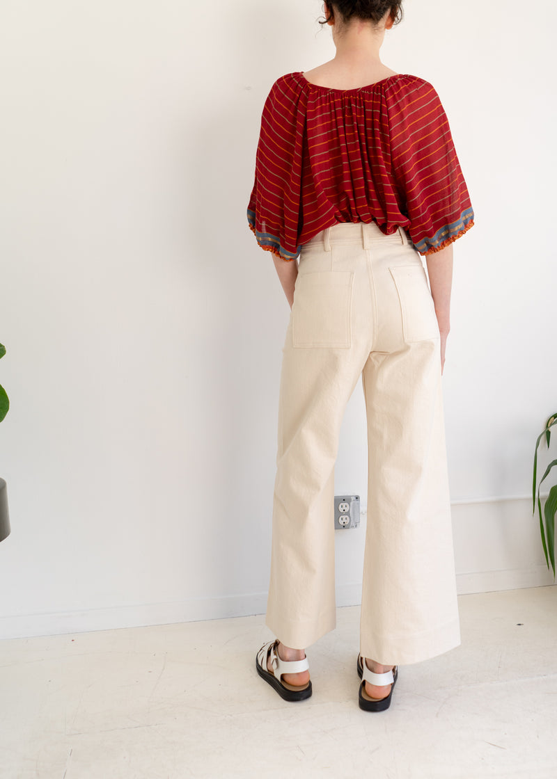 Maison Pants- Natural Denim