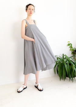 Land Dress- Gingham Black/ White