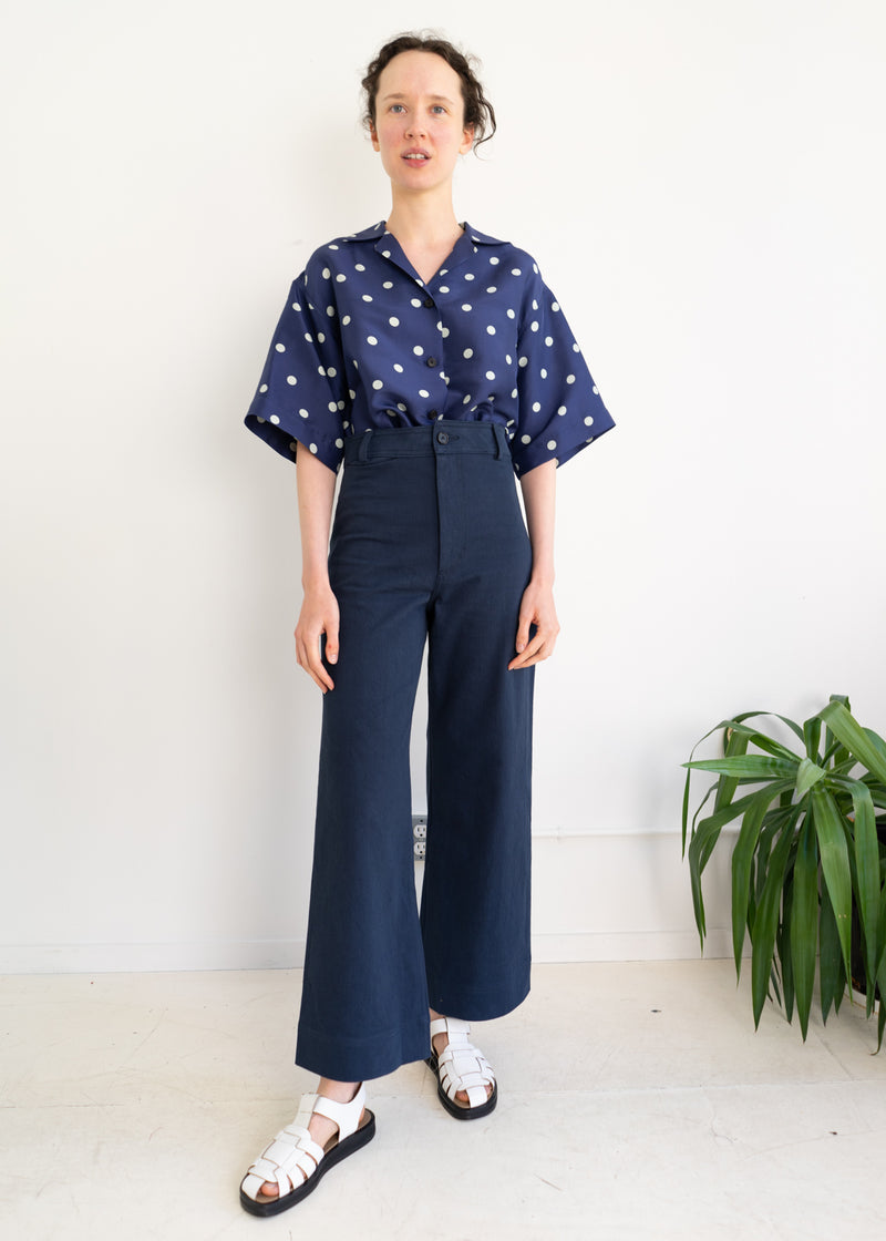 Maison Pants- Navy Denim