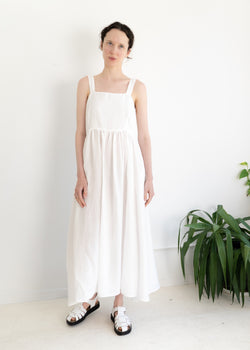 May Dress- Linen White