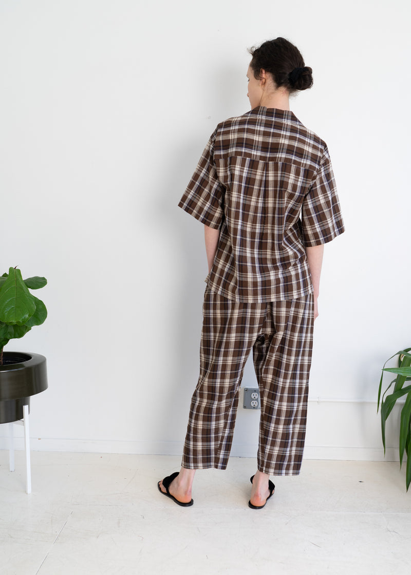 Zen Top- Brown Madras