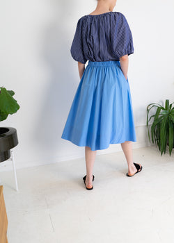 Theo Skirt- Sky Blue Cotton