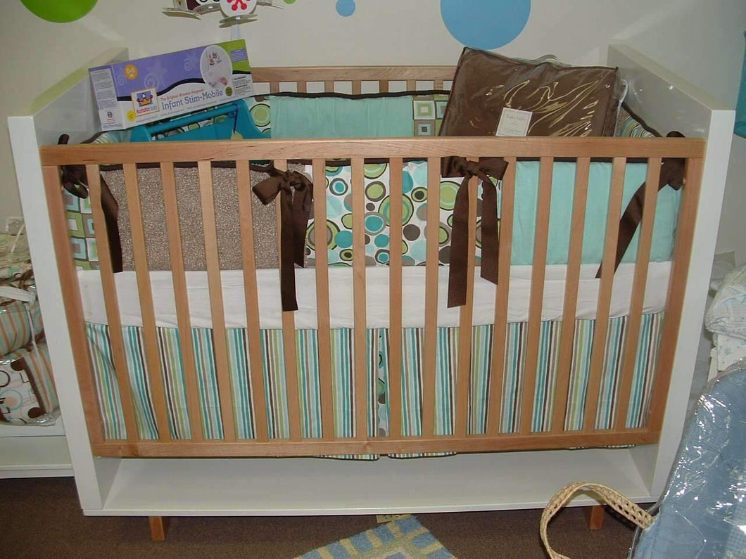 Teal & Brown Flashback Crib Bedding