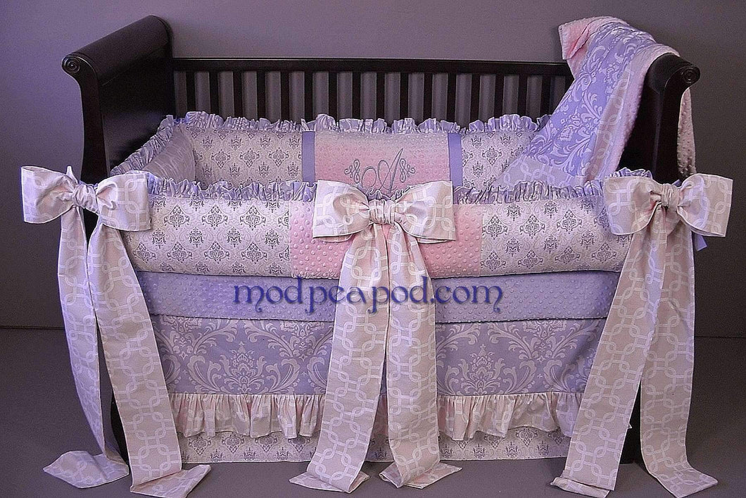 Purple & Pink Arabella Crib Bedding