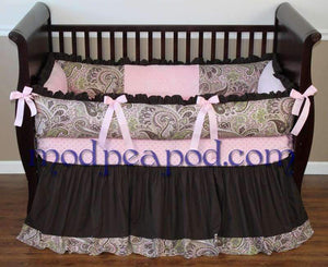 Cream & Black with Pink Avery Crib Bedding~Almost sold out for good