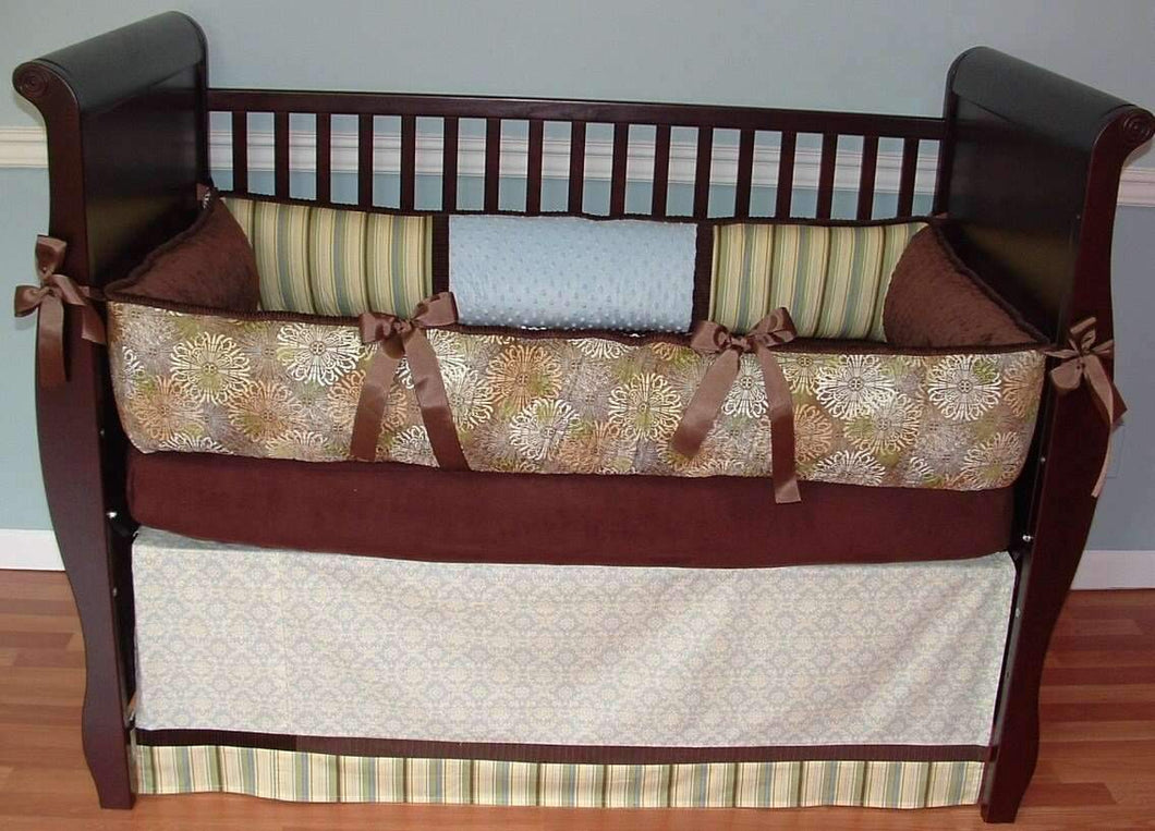 Brown & Cream Bliss Crib Bedding
