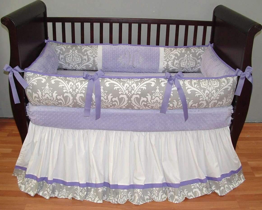 Lavender & Grey Brooklyn Crib Bedding