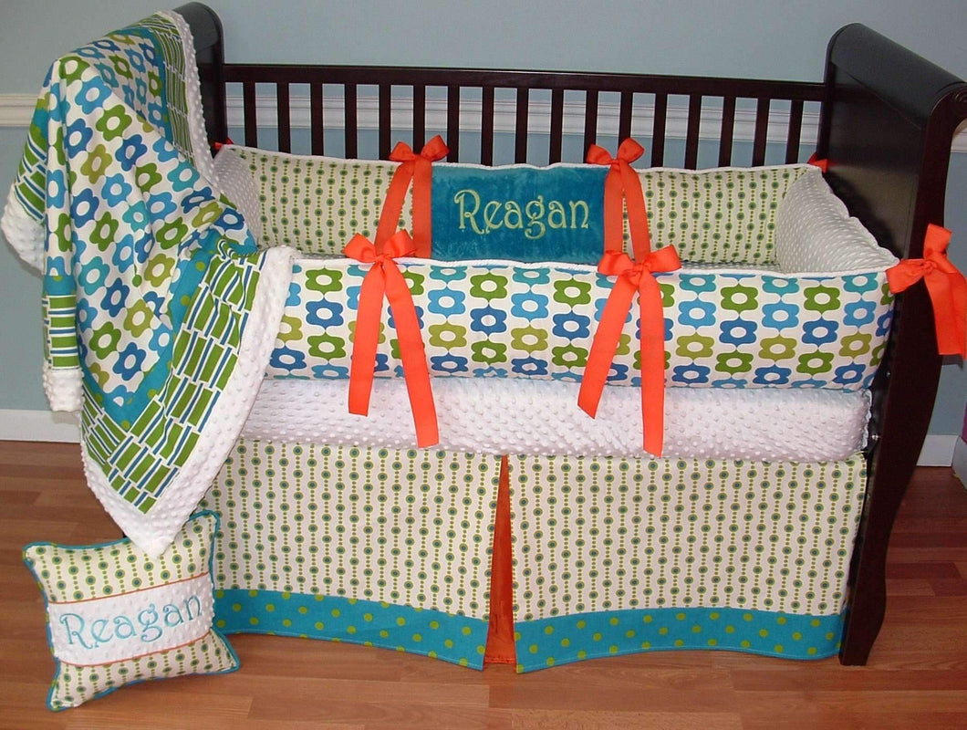 Blue & Green Campbell Crib Bedding