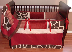 Red & Brown | Giraffe Cole Crib Bedding