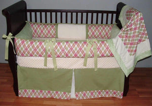 Pink & Green | Elaine Crib Bedding