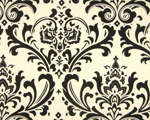 Chocolate & Cream Damask