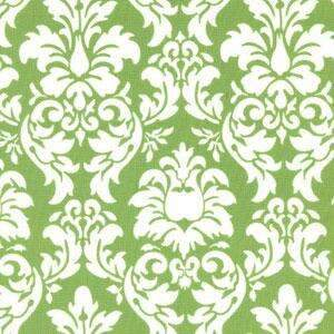 Green & White Dandy Damask