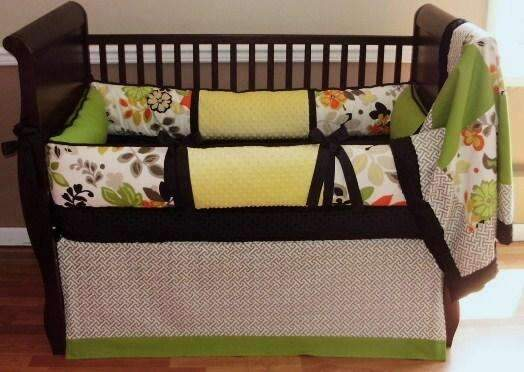 Green & Cream | Finley Crib Bedding