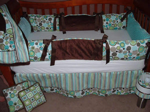Baby Blue & Brown | Flashback Crib Set