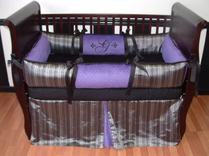 Purple Gianna Crib Bedding