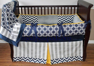 Grayson Crib Bedding~Yellow can be changed to any color