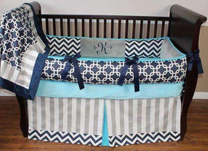Grayson Teal Crib Bedding