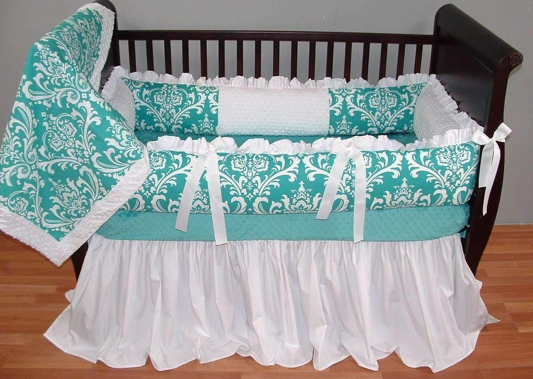 Teal Haven Crib Bedding